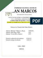Modelo de Informe Química Analítica