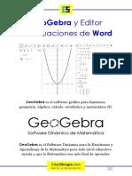 GeoGebra y Editor de Ecuaciones de Word