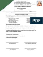 CARTA de COMPROMISO Para Los Padres y Alumnos
