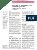 desarrollo de artritis en artralgia ACPA+