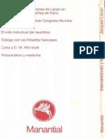 Lacan Jacques - Intervenciones y Textos 1
