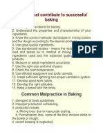 Factors That Contribute to Successful Baking
