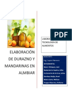 Durazno y Mandartina en Almibar
