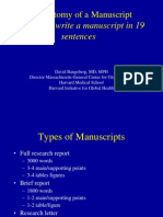 Anatomy of a Manuscript How to Write a Manuscript