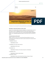 GK Notes_ Important Deserts of the World
