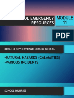 Module 11 - School Emergency Resources Ppt