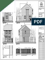 Plano Elevaciones Casa Medio 70mts2