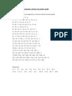 Ecuaciones Enteras de Primer Grado 5