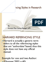 Referncing style