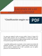 Clasificaciones de las perdidas auditivas, segun su etiologia  2.ppt