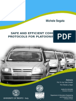 SAFE AND EFFICIENT COMMUNICATION PROTOCOLS FOR PLATOONING CONTROL