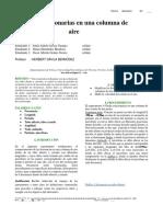 Informe Experimento 4 (Ondas Estacionarias en Una Columna de Aire)