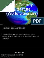 21st Century Literature Lesson 8