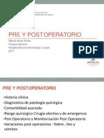 Clase 02 - Pre Post Operatorio