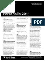 Personalia 2011