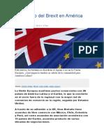 El Impacto Del Brexit en América Latina