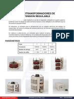 Catalogo Regulador de Voltaje - Variac