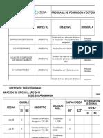 Programa de Formación y Det. Eficacia 2018