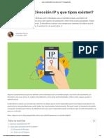 ¿Qué Es Una Dirección IP y Que Tipos Existen_ – ComparaHosting