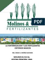 Fertilizantes y La Fertirrigacion Principios Molinos