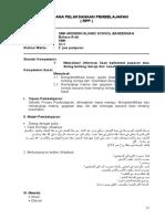 rpp bahasa arab
