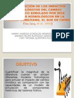COMPARACION DE LOS IMPACTOS HIDROLOGICOS DEL CAMBIO CLIMÁTICO SIMULADO  POR SEIS MODELOS HIDROLÓGICOS EN LA CUENCA DONGJIANG, EL SUR DE CHINA