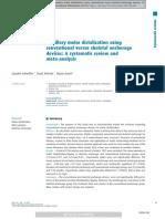 La Distalización de Los Molares Superiores Utilizando Dispositivos de Anclaje Convencionales Versus Esqueléticos Una Revisión Sistemática y Un Metanálisis.