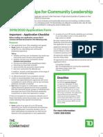 1 1400686 TD Scholarship Program 2019-2020 Guidelines Application Form