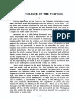 Rizal, The Indolence of the Filipino