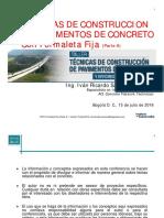 Taller Pavimentos Barranquilla Tecnicas de Construccion de Pavimentos de Concreto