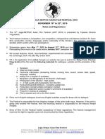 Rules Regulations JAFF 2019 Rev