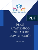 Plan Academico 2018