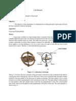 Lab Manual 1 (Gyroscope)