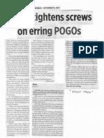 Business World, sept. 16, 2019, Gov't tightens screws on erring POGOs.pdf