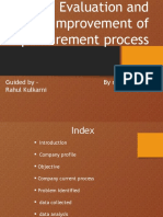 Evaluation and Improvement of Procurement Process