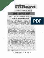 Manila Standard, Sept. 16, 2019, Probe Custom execs, steel producers.pdf