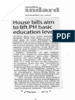 Manila Standard, Sept. 16, 2019, House bills aim to lift PH basic education levels.pdf