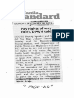 Manila Standard, Sept. 16, 2019, Pay rights of way DOTr, DPWH told.pdf
