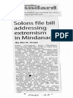 Manila Standard, Sept. 16, 2019, Solons files bill addressing extremism in Mindanao.pdf