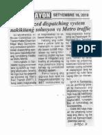Ngayon, Sept. 16, 2019, Centralized dispatching system nakikitang solution vs Metro traffic.pdf