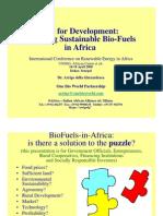 Implementing Sustainable Bio-Fuels in Africa - Arrigo Della Gherardesca