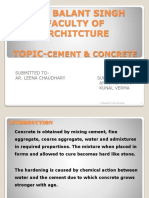 Cement concrete