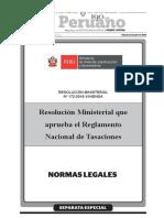 Aprueban Reglamento Nacional de Tasaciones Resolucion Ministerial No 172 2016 Vivienda 1407416 1