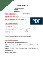 Drug Profile ( Bisoprolol)