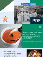 Factores de La Contaminacion de Alimentos