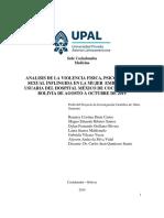 Analisis de Violencia Fisica,Psicologica y Sexual Inflingida en La Mujer Embarazada Usuaria Del Hospital Mexico de La Ciudad de Cochabamba de Agosto a Octubre Del 2019-Convertido