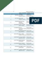 Lista de Estudiantes