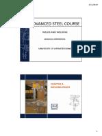 Advanced steel design - Welds