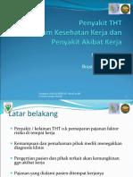PPT. Presentasi Penyakit THT Akibat Kerja