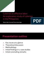 Cybersex as Affective Labor an Explorato
